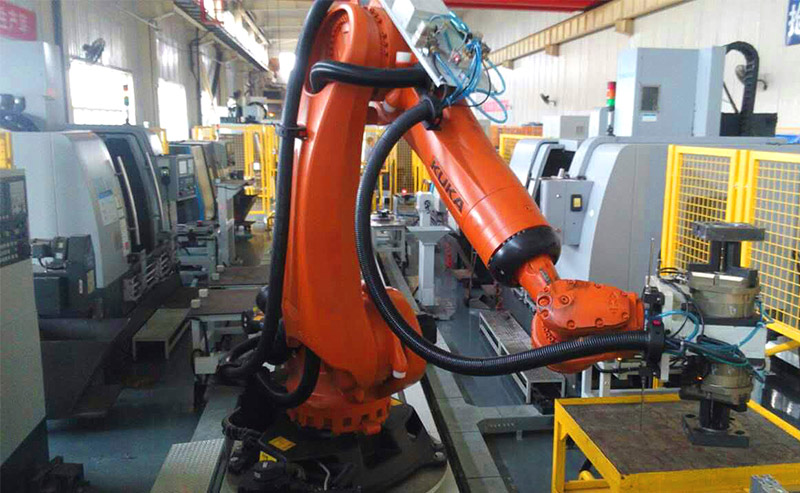 Hengyang special change - machine tool loading and unloading flexible processing robot workstation